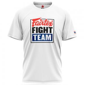 FAIRTEX TST51 FIGHT TEAM ФУТБОЛКА ТАЙСКИЙ БОКС WHITE