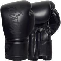 Боксерские Перчатки Fairtex BGV14 Solid Black Двойной Черный