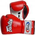 Боксерские Перчатки Fairtex BGL7 Pro Trening Mexican Style Red-White Шнуровка