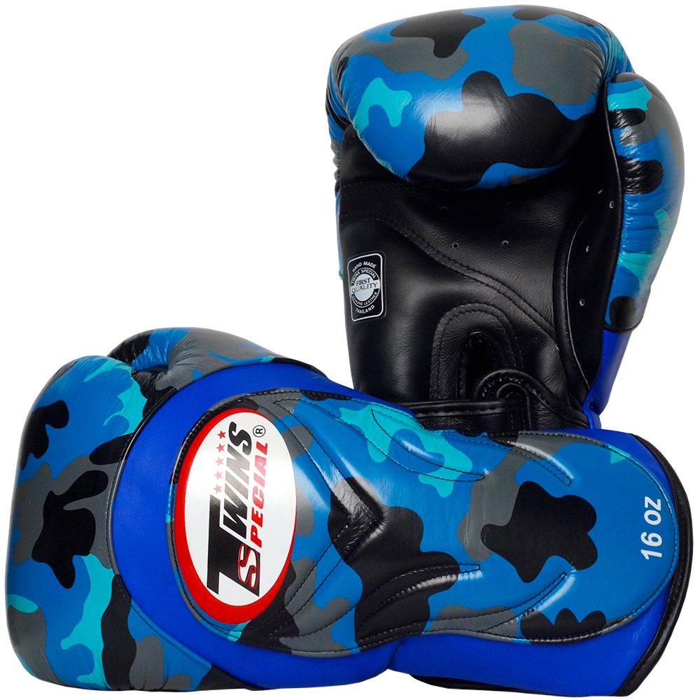 Боксерские Перчатки Twins FBGV Army Blue Camo