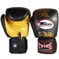 Боксерские Перчатки Twins Special  Черные с Золотым Классическим Драконом