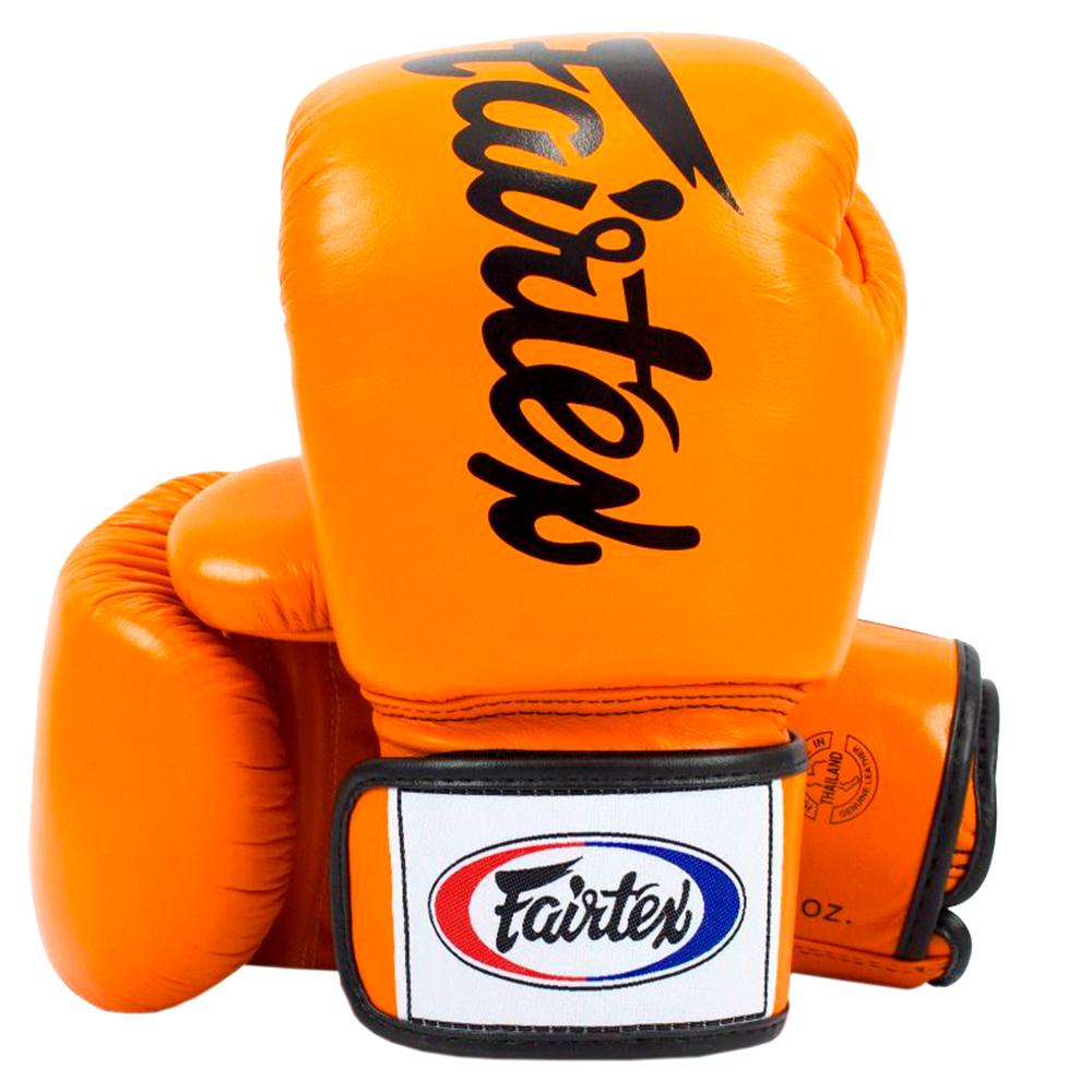 Боксерские Перчатки Fairtex BGV19 Deluxe Tight-Fit Gloves Orange