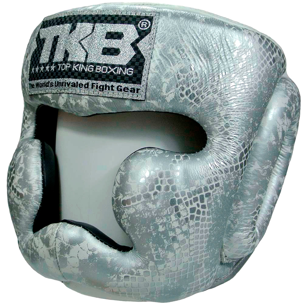 Шлем Top King Snake  Silver White