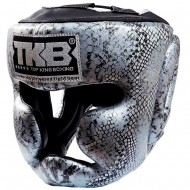 Боксерский шлем Top King  Snake Silver Black