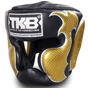 Боксерский шлем Top King Empower Black-Gold Размер Large