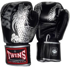 Боксерские Перчатки Twins Special FBGV-49 Black-Silver  8 Oz