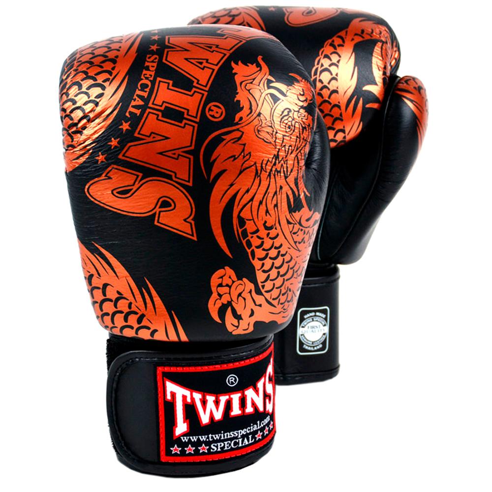 Боксерские Перчатки Twins Special FBGV-49 Black-Bronze