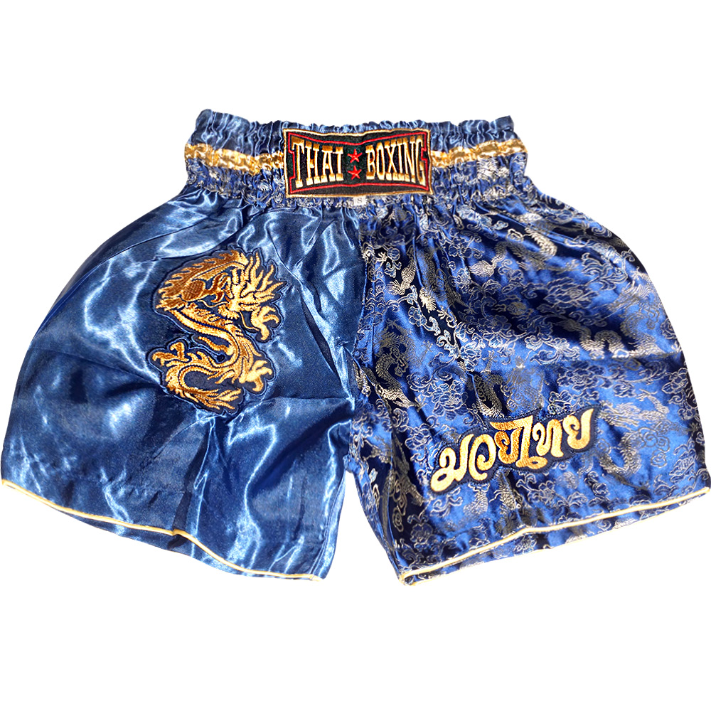 Детские Шорты THAIBOXING TBK-06 Blue-Dragon