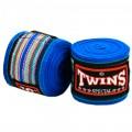 Бинты Тайский Бокс Twins Special Полосатые Синие Детские