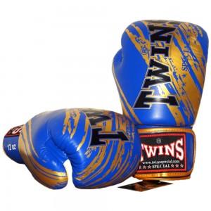 Боксерские перчаткиTWINS FBGV-TW2 Blue-Gold