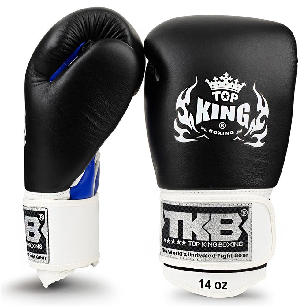 "Боксерские перчатки TOP KINGTKBGUV""ULTIMATE""Black-Blue"