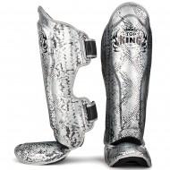 Защита голени и стопы Top King  Super Star Snake Silver Black