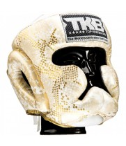 Боксерский шлем Top King  Snake White