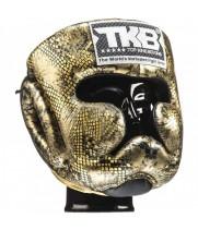 Боксерский шлем Top King  Snake Gold Black