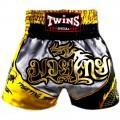 Заказать тайские шорты Twins Special Dragon Black-Gray