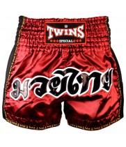 Тайские Шорты Twins Special  TWS-913 с Сеткой Maroon
