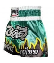 Шорты для тайского бокса Lumpinee Flame Gray