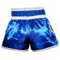 Шорты тайский бокс дешевые Lumpinee КолесоBlue