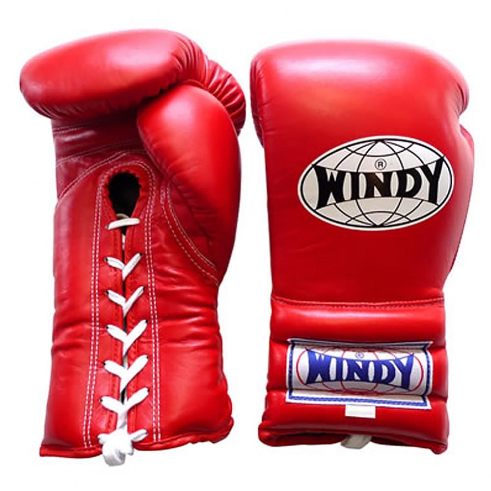 Перчатки WindyBGL Красные Шнурки