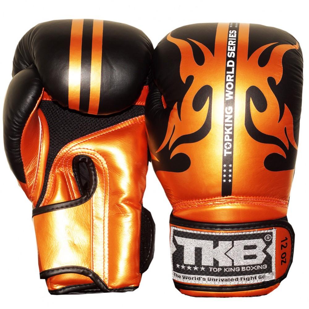 Боксерские Перчатки Top King TKBGWS Черные с Золотом