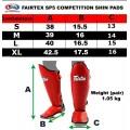 Защита голени Fairtex SP5Красная