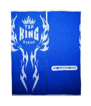 Защита голеностопа Top King Синий Вышивка