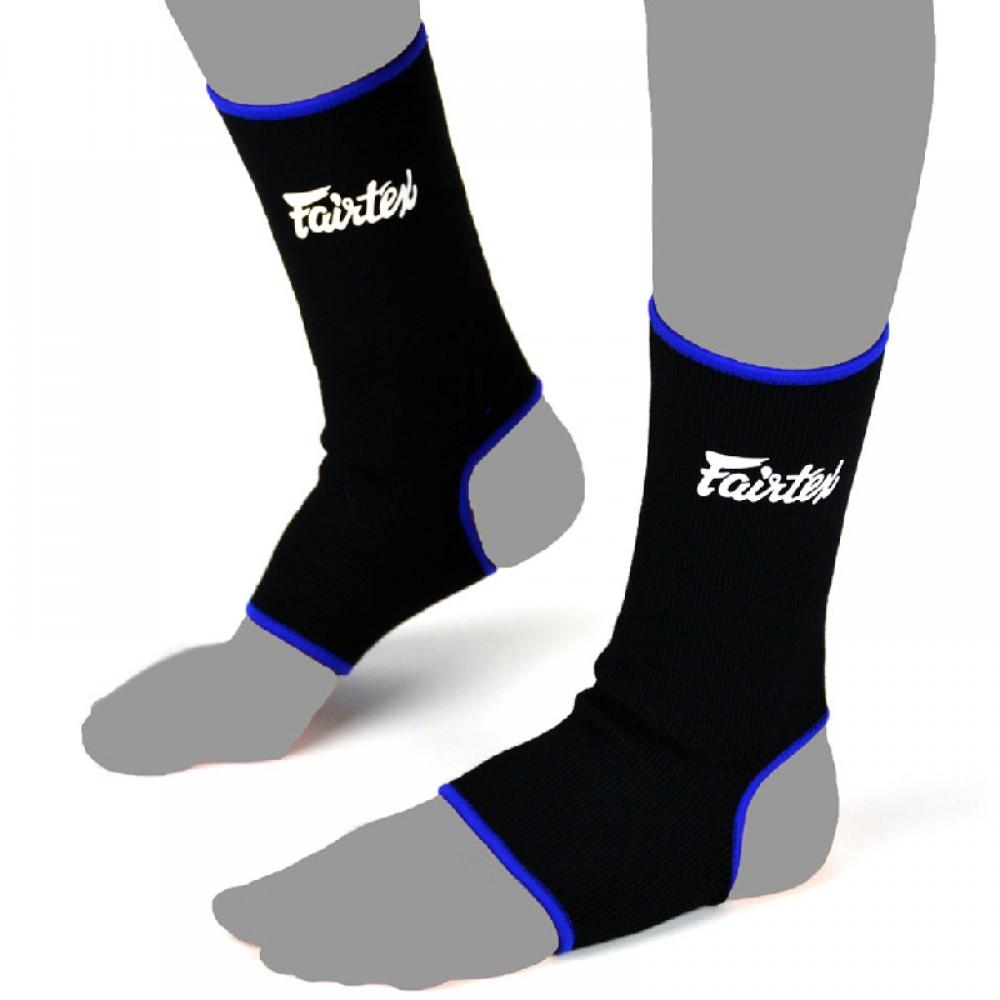 Носки для тайского бокса Fairtex Черный Синий Кант голеностоп защита
