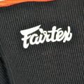 Голеностопы для тайского бокса купить Fairtex Черный (Красный Кант)