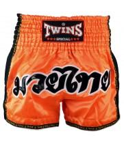 Тайские Шорты Twins Special  TWS-916 с Сеткой Оранжевые