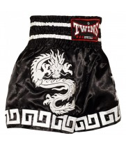 Тайские Шорты Twins Special Dragon Black-White