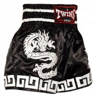 Тайские Шорты Twins Special Dragon Black-White