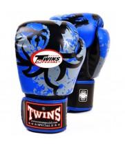 Боксерские Перчатки Twins Special FBGV-36 Синие с Tribal Dragon