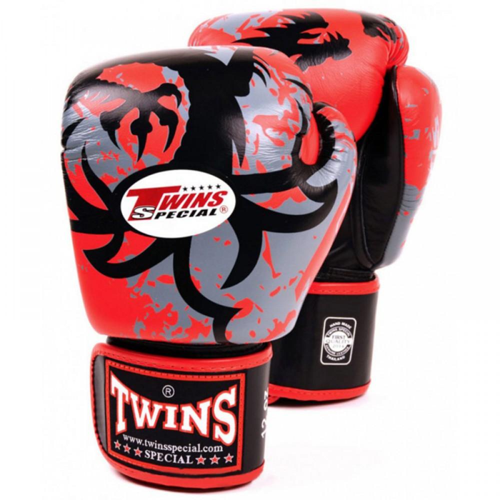 Боксерские перчатки Twins FBGV36 Красные