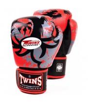 Боксерские Перчатки Twins Special FBGV-36 Красные с Tribal Dragon