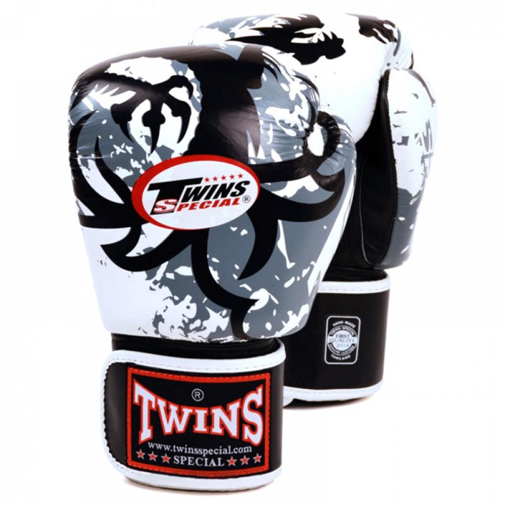 Перчатки тайские Twins Special BGV3 Белые