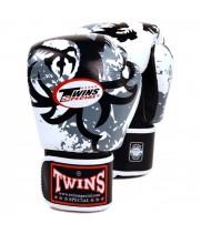 Боксерские Перчатки Twins Special FBGV-36 Белые с  Tribal Dragon